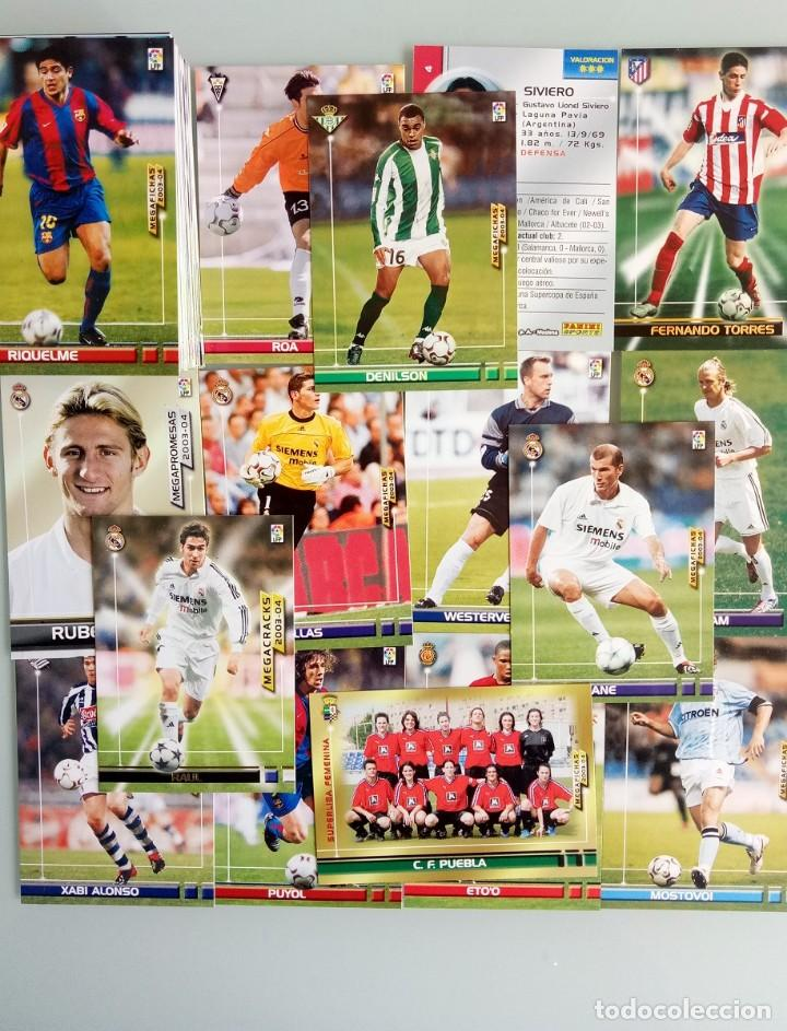 LOT TRADING CARDS - PANINI MEGA FICHAS LIGA 2003-2004. + 100 CARDS (Coleccionismo Deportivo - Libros de Fútbol)