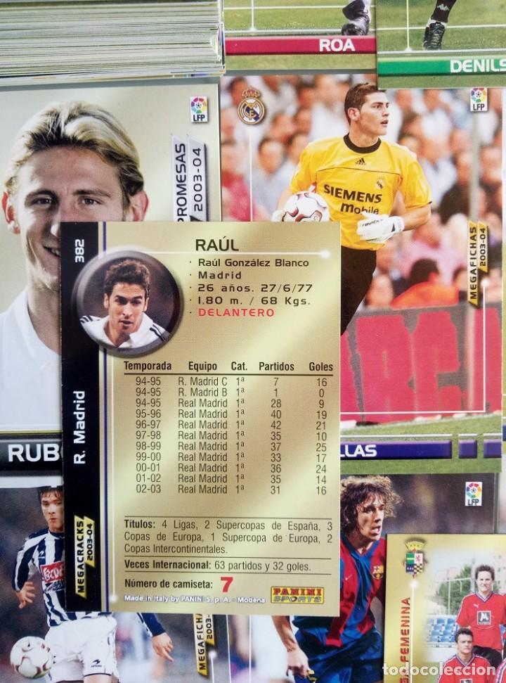 Coleccionismo deportivo: LOT TRADING CARDS - PANINI MEGA FICHAS LIGA 2003-2004. + 100 cards - Foto 3 - 157825758