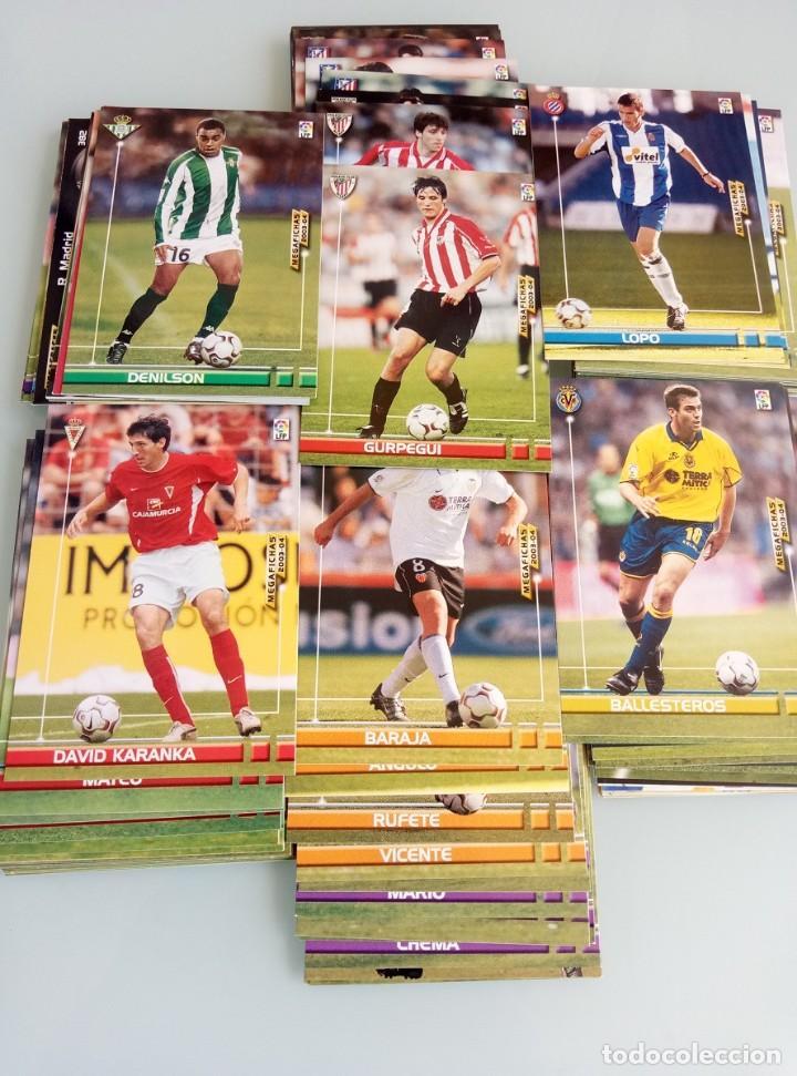 Coleccionismo deportivo: LOT TRADING CARDS - PANINI MEGA FICHAS LIGA 2003-2004. + 100 cards - Foto 4 - 157825758
