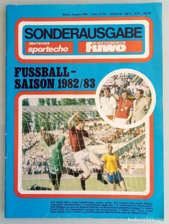 DIE NEUE FUSSBALLWOCHE (FUWO) - SONDERAUSGABE 1982/1983.# (Coleccionismo Deportivo - Libros de Fútbol)