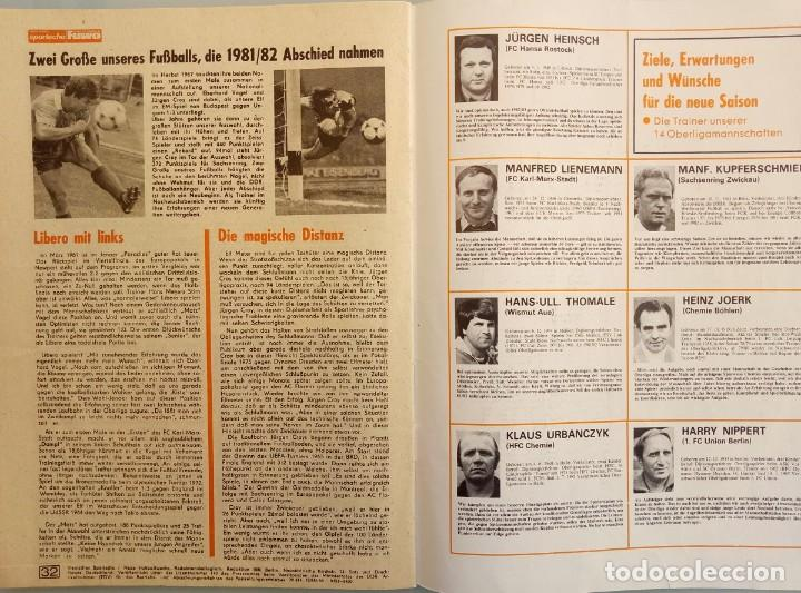 Coleccionismo deportivo: DIE NEUE FUSSBALLWOCHE (FUWO) - SONDERAUSGABE 1982/1983.# - Foto 5 - 194372700