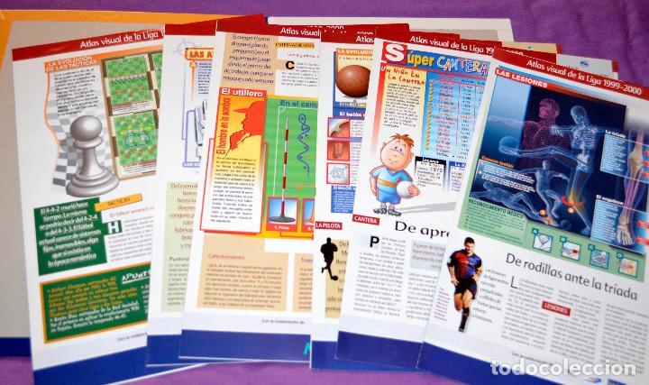 Coleccionismo deportivo: Atlas visual de la Liga 1999-2000. Interviú. Algunos fascículos y tapas. - Foto 2 - 159012806