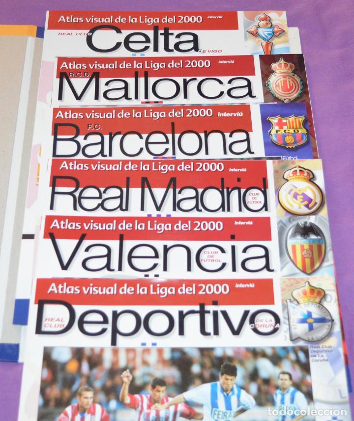 Coleccionismo deportivo: Atlas visual de la Liga 1999-2000. Interviú. Algunos fascículos y tapas. - Foto 3 - 159012806