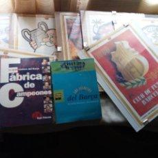 Coleccionismo deportivo: 8 LAMINAS DE CARTON CON CRISTAL Y DOS LIBROS DEL FÚTBOL CLUB BARCELONA-1996. Lote 159621166