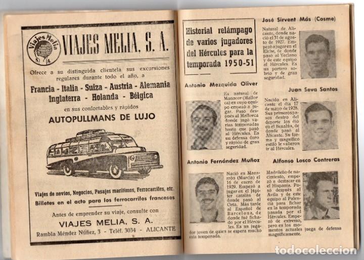 Coleccionismo deportivo: Bardin,temporada 1950-1951, Hercules de alicante, con 66 paginas y 31 foto - Foto 3 - 159948854