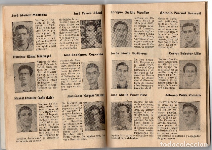 Coleccionismo deportivo: Bardin,temporada 1950-1951, Hercules de alicante, con 66 paginas y 31 foto - Foto 2 - 159948854