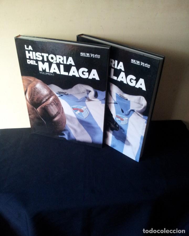 LA HISTORIA DEL MALAGA - 2 TOMOS - SUR 75 AÑOS CONTIGO - AÑO 2013 (Coleccionismo Deportivo - Libros de Fútbol)