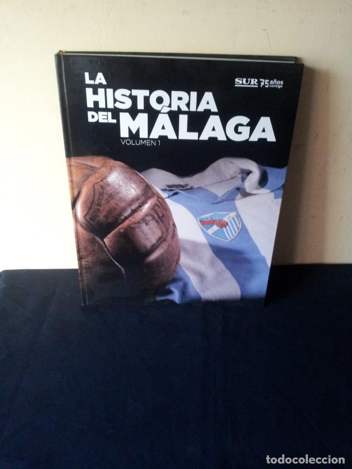 Coleccionismo deportivo: LA HISTORIA DEL MALAGA - 2 TOMOS - SUR 75 AÑOS CONTIGO - AÑO 2013 - Foto 2 - 160198250