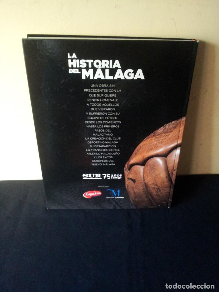Coleccionismo deportivo: LA HISTORIA DEL MALAGA - 2 TOMOS - SUR 75 AÑOS CONTIGO - AÑO 2013 - Foto 3 - 160198250