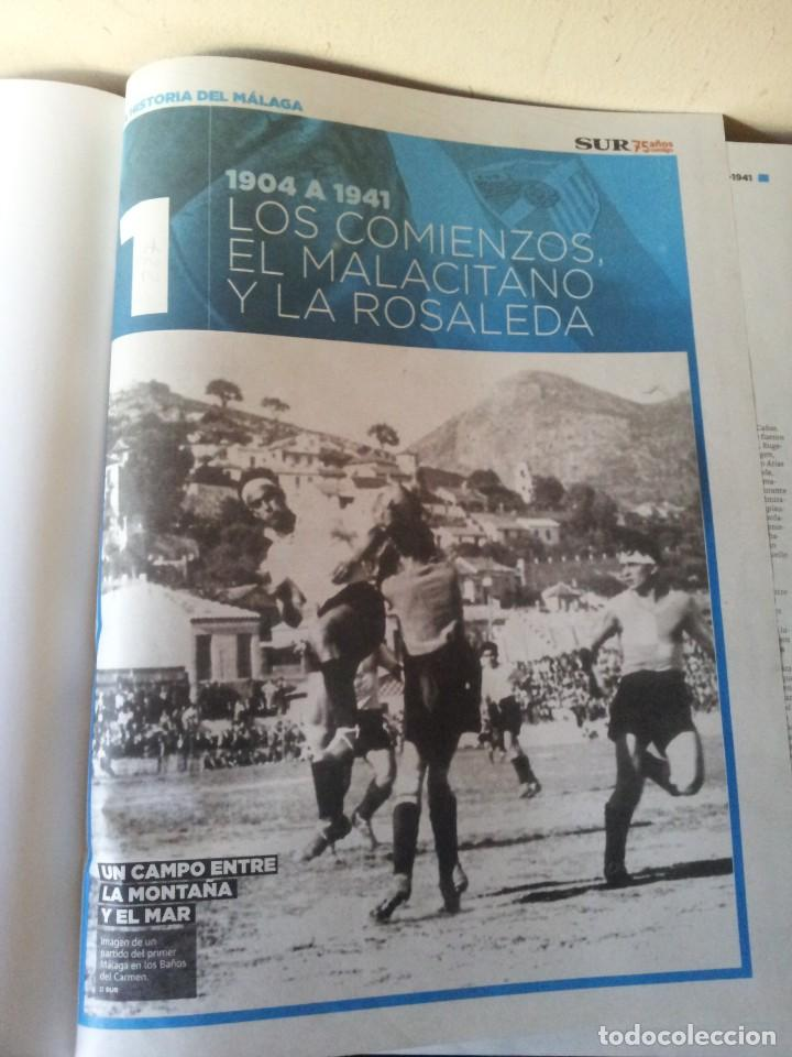 Coleccionismo deportivo: LA HISTORIA DEL MALAGA - 2 TOMOS - SUR 75 AÑOS CONTIGO - AÑO 2013 - Foto 4 - 160198250