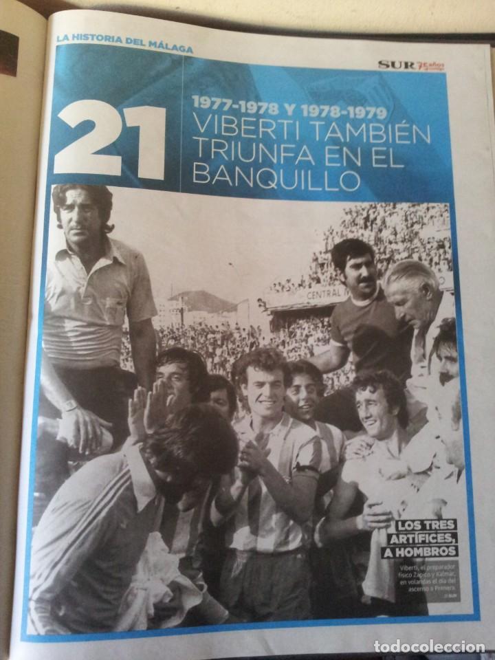 Coleccionismo deportivo: LA HISTORIA DEL MALAGA - 2 TOMOS - SUR 75 AÑOS CONTIGO - AÑO 2013 - Foto 7 - 160198250