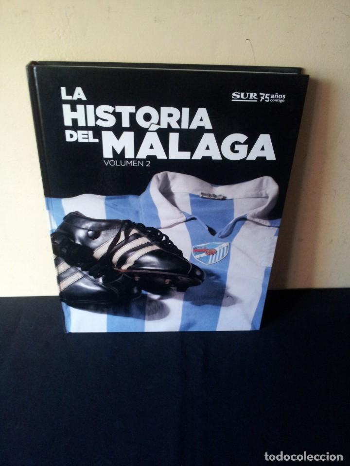 Coleccionismo deportivo: LA HISTORIA DEL MALAGA - 2 TOMOS - SUR 75 AÑOS CONTIGO - AÑO 2013 - Foto 8 - 160198250