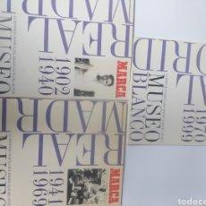 Coleccionismo deportivo: FÚTBOL . REAL MADRID 3 ÁLBUMES HISTORIA GRÁFICA MUSEO BLANCO. Lote 161273136
