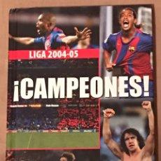 Coleccionismo deportivo: LIBRO CD BARÇA CAMPEÓN LIGA 2004-5. Lote 161837776