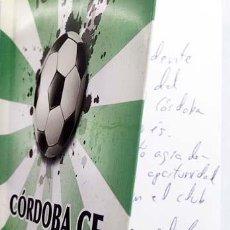 Coleccionismo deportivo: CÓRDOBA CF. INFINITA PASIÓN. (CON AUTÓGRAFO DEL AUTOR. TONI CRUZ) FÚTBOL. CÓRDOBA.. Lote 162903210