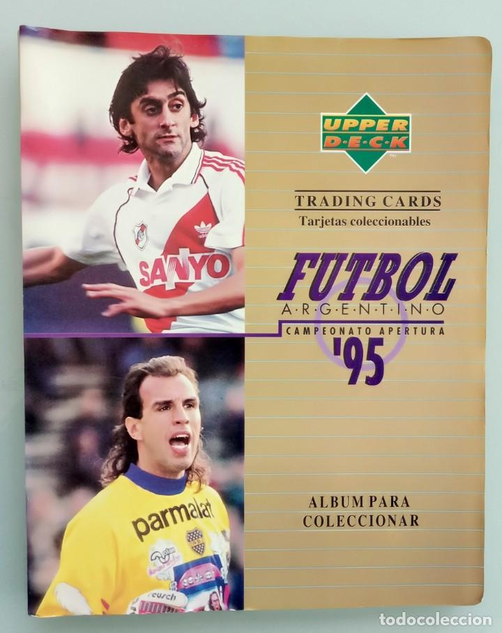 TRADING CARDS UPPER-DECK. - FÚTBOL ARGENTINO CAMPEONATO APERTURA'95- . # (Coleccionismo Deportivo - Libros de Fútbol)