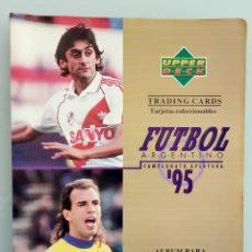 Coleccionismo deportivo: TRADING CARDS UPPER-DECK. - FÚTBOL ARGENTINO CAMPEONATO APERTURA'95- . #. Lote 164864414