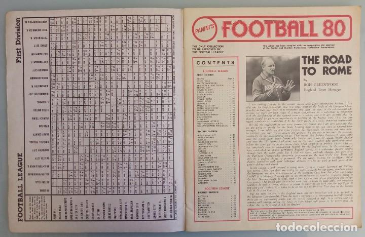 Coleccionismo deportivo: ALBUM PANINI. - FOOTBALL 80 - # - Foto 2 - 166100310