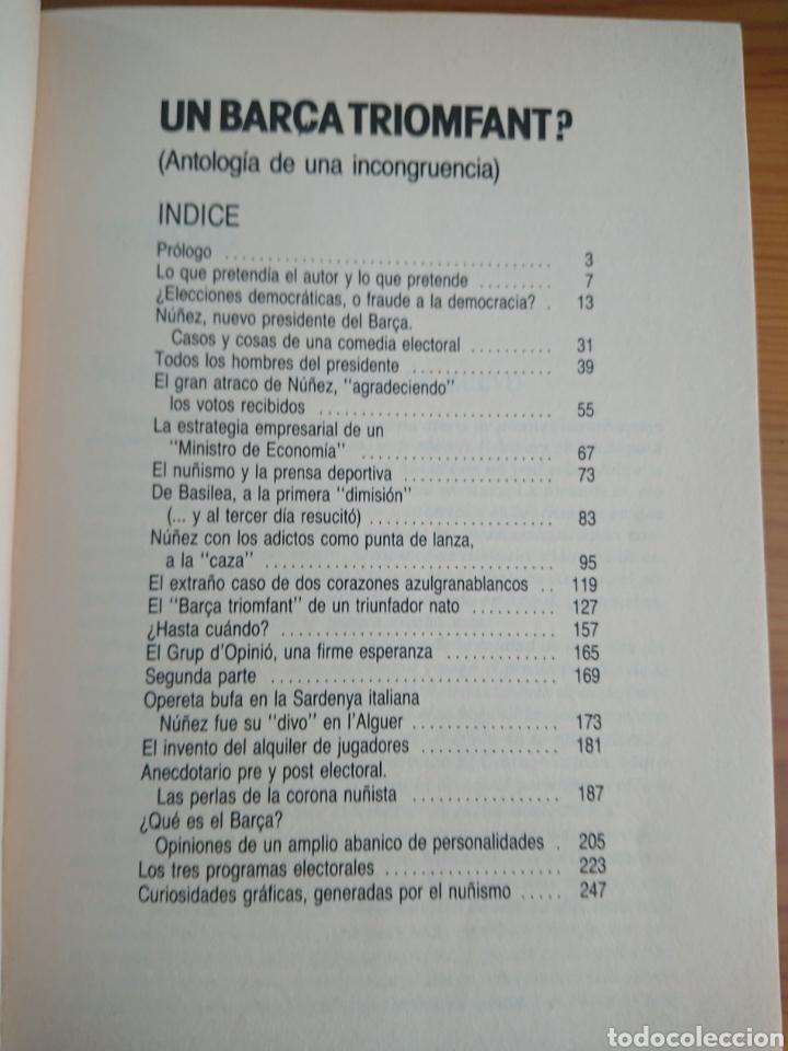 Coleccionismo deportivo: UN BARÇA TRIOMFANT? MORERA FALCO, LIBRO SOBRE FC BARCELONA - Foto 4 - 169107136