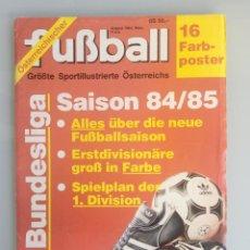 Coleccionismo deportivo: FUSSBALL ÖSTERREICHISHER. - DIE BUNDESLIGA SAISON 84/85 - #. Lote 169812396