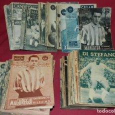 Coleccionismo deportivo: (M) LOTE DE 114 NÚMEROS COLECCIÓN ÍDOLOS DEL DEPORTE, MADRID 1958, FALTAN 6 NÚMEROS, VER DESCRIPCIÓN. Lote 170093416