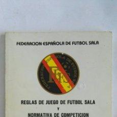 Coleccionismo deportivo: REGLAS DE JUEGO DE FÚTBOL SALA. Lote 170443573