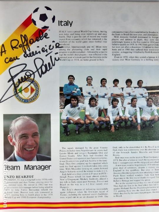 Coleccionismo deportivo: GUÍA DEL MUNDIAL DE ESPAÑA 1982. FIRMADA POR BRUNO CONTI - Foto 2 - 170815455