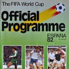 Coleccionismo deportivo: GUÍA DEL MUNDIAL DE ESPAÑA 1982. FIRMADA POR BRUNO CONTI. Lote 170815455