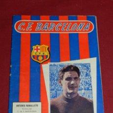 Coleccionismo deportivo: (M) PROGRAMA CF BARCELONA 8 SEPTIEMBRE N.63 PARTIDO CF BARCELONA - AT OSASUNA. Lote 170953808