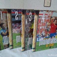 Coleccionismo deportivo: 130-HISTORIA DE LOS MUNDIALES DE FUTBOL, CANAL +, AS, 4 TOMOS.. Lote 171140624