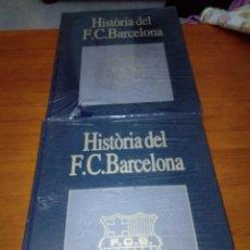 Coleccionismo deportivo: LOTE DE 2 LIBROS. HISTÓRIA DEL F. C. BARCELONA. 1974/1993. LES SECCIONS. NUEVO PRECINTADO. EST1B1. Lote 171349245