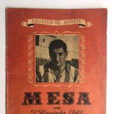 Coleccionismo deportivo: FÚTBOL. LIBRO. BIBLIOTECA DEL DEPORTE MESA, JUGADOR DEL C.F. AVIACIÓN (A.1940?). Lote 172098942