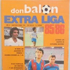 Coleccionismo deportivo: DON BALÓN. EXTRA LIGA 85/86 - #. Lote 172343244