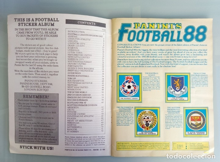 Coleccionismo deportivo: ALBUM PANINI. - FOOTBALL 88 - # - Foto 3 - 172396637