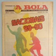 Coleccionismo deportivo: CADERNOS A BOLA. - FUTEBOL 89-90 - #. Lote 172407314