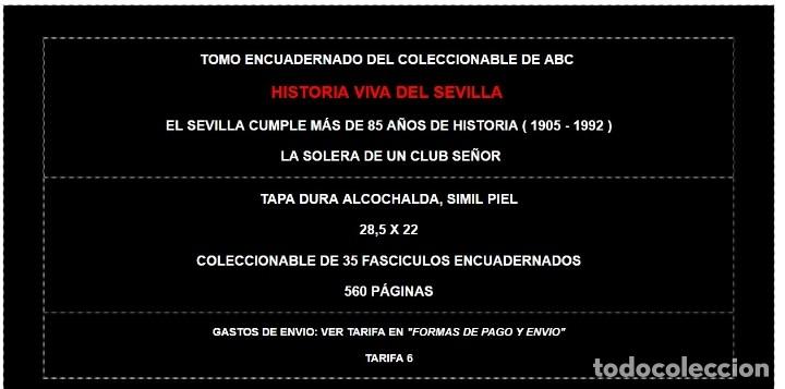 Coleccionismo deportivo: ABC EKL HISTORIA VIVA DEL SEVILLA FUTBOL CLUB ( 1905 - 1992 ) ~ TOMO ENCUADERNADO FC F.C. - Foto 2 - 103210019