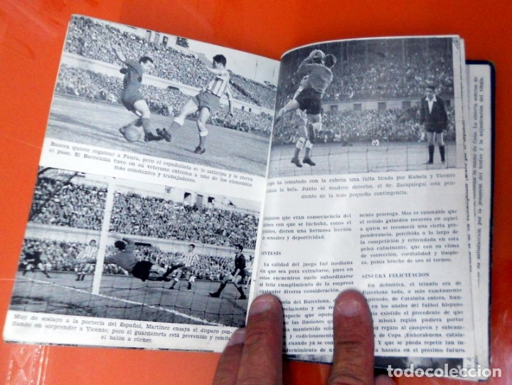 Coleccionismo deportivo: LIBRITO EDICIONES DINÁMICO ZARAGOZA LA LUCHA POR LA COPA 1957 - FÚTBOL VINTAGE - COPA GENERALÍSIMO - Foto 4 - 173598788