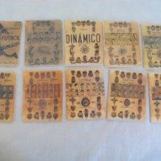 Coleccionismo deportivo: LOTE DE 10 CALENDARIOS DINAMICO, 1949-1950-1951-1952-1953-1954-1955-1956-1957..... Lote 174377982