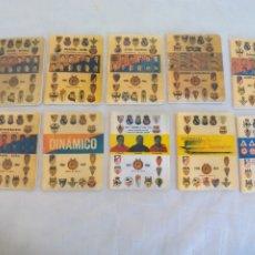 Coleccionismo deportivo: LOTE DE 10 CALENDARIOS DINAMICO, AÑOS 1961, 1962, 1963,1964,1965, 1966, 1967,1968.. MUNDIA CHILE. Lote 174378954