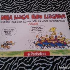 Coleccionismo deportivo: LIBRO CÓMIC POR OSCAR BARCELONA EL PERIÓDICO BARÇA LIGA 1990-1991 UNA LLIGA BEN LLIGADA 90-91. Lote 174490782