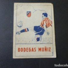 Coleccionismo deportivo: CALENDARIO LIGA DE FUTBOL 1949 49 ATLETICO DE MADRID PUBLICIDAD BODEGAS MUÑIZ. Lote 175437009