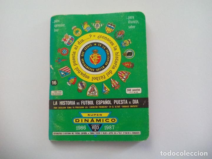 Coleccionismo deportivo: SUPER Dinámico + SUPLEMENTO INDICE PROGRESIVO Historia Fútbol Temporada 1986- 1987 TOMO nº 16 España - Foto 2 - 175727752
