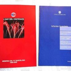 Coleccionismo deportivo: L'ANY DEL CENTENARI ·MEMÒRIA DEL FC BARCELONA 1999-2000. Lote 176131924