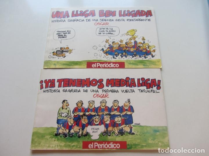 YA TENEMOS MEDIA LIGA Y UNA LLIGA BEN LLIGADA OSCAR FC BARCELONA EL PERIÓDICO BARÇA 1990-1991 CS190 (Coleccionismo Deportivo - Libros de Fútbol)