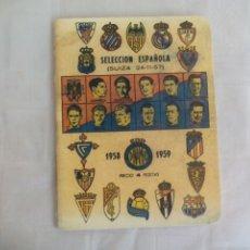Coleccionismo deportivo: SELECCIÓN ESPAÑOLA. FUTBOL SUIZA 24-11-57. 1958 1959. ANUARIO DINAMICO REEDICION. Lote 176223918