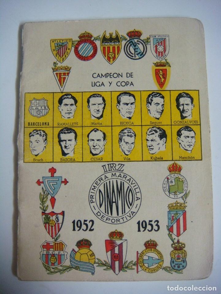LIBRILLO CALENDARIO DE FUTBOL DINAMICO TEMPORADA-1952-1953 (Coleccionismo Deportivo - Libros de Fútbol)