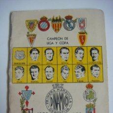 Coleccionismo deportivo: LIBRILLO CALENDARIO DE FUTBOL DINAMICO TEMPORADA-1952-1953. Lote 176511709