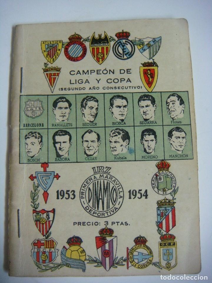LIBRILLO CALENDARIO DE FUTBOL DINAMICO TEMPORADA-1953-1954 (Coleccionismo Deportivo - Libros de Fútbol)