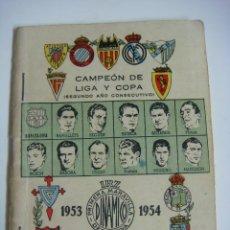 Coleccionismo deportivo: LIBRILLO CALENDARIO DE FUTBOL DINAMICO TEMPORADA-1953-1954. Lote 176511880