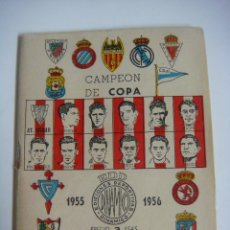 Coleccionismo deportivo: LIBRILLO CALENDARIO DE FUTBOL DINAMICO TEMPORADA-1955-1956. Lote 176512137